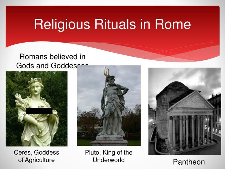 Religious Rituals in Rome