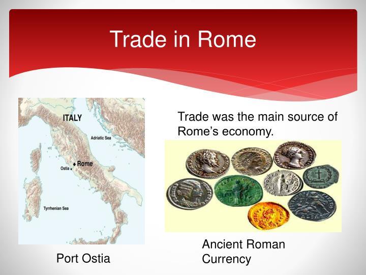 Trade in Rome