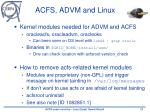 acfs advm and linux