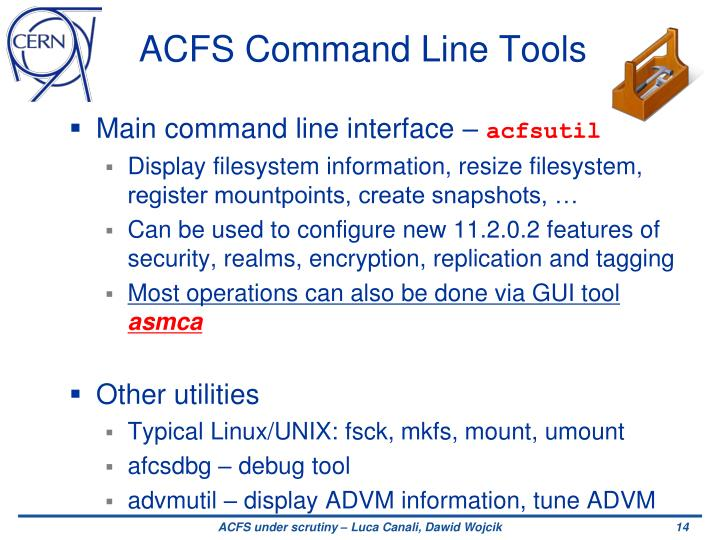 ACFS Command Line Tools