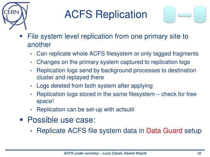 ACFS Replication