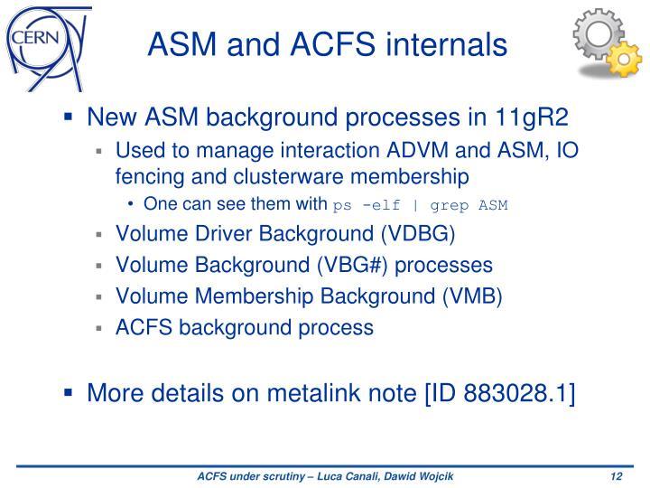 ASM and ACFS internals