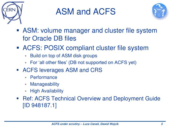 ASM and ACFS