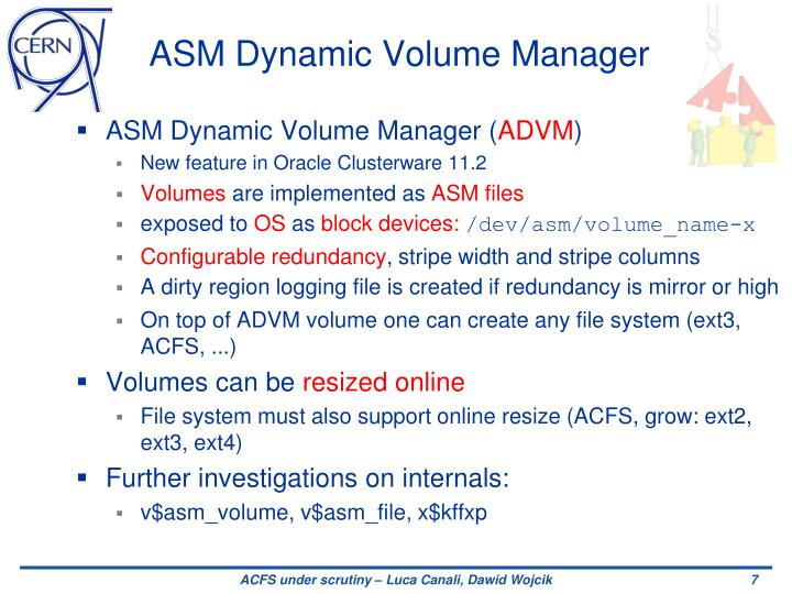 ASM Dynamic Volume Manager