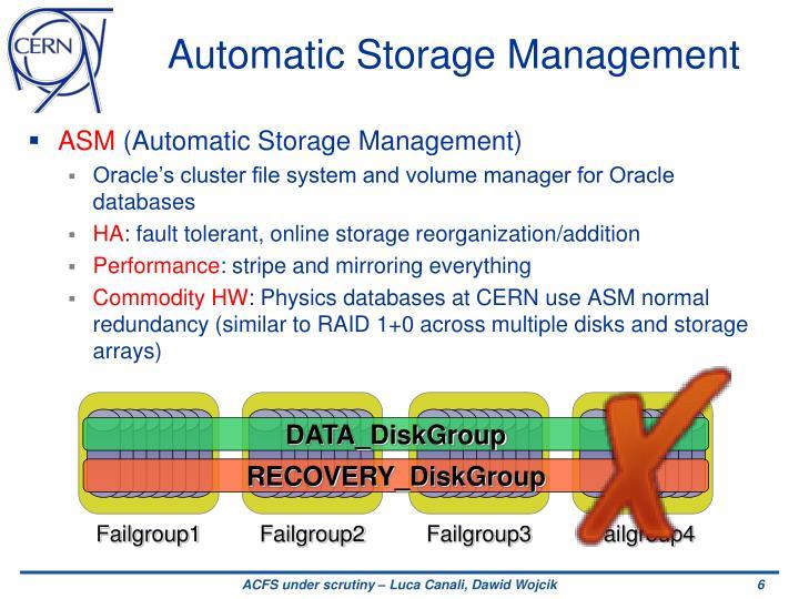 Automatic Storage Management