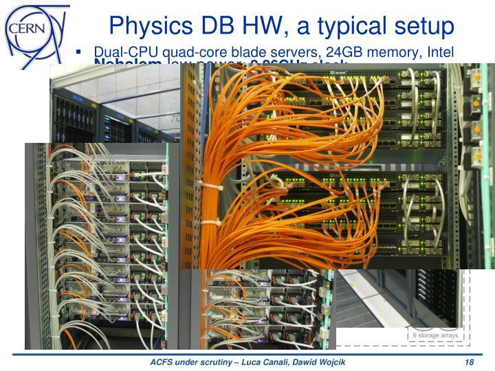 Physics DB HW, a typical setup