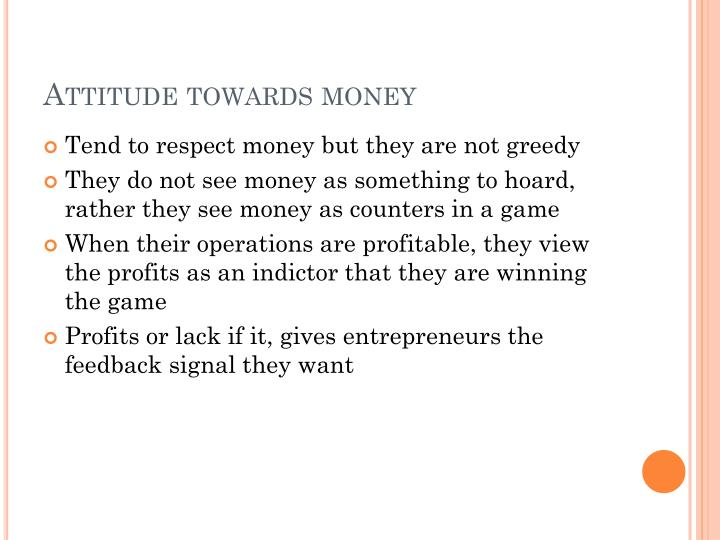 Attitude towards money
