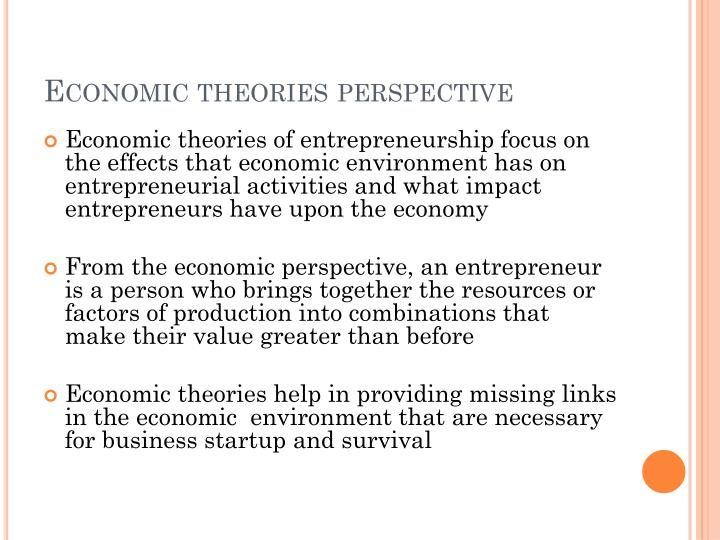 Economic theories perspective