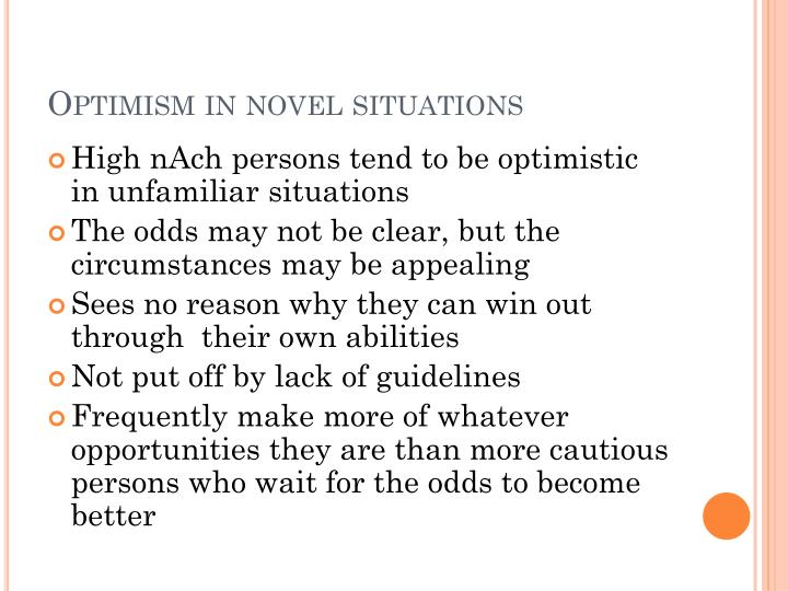 Optimism in novel situations