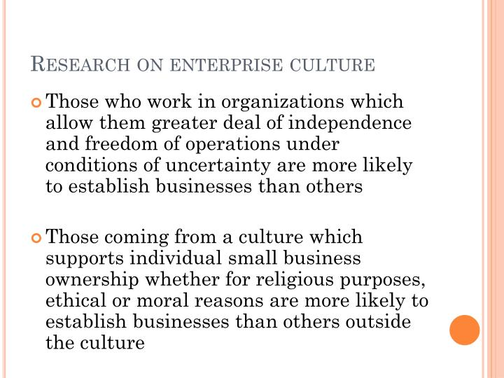 Research on enterprise culture