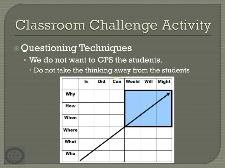 Classroom Challenge Activity