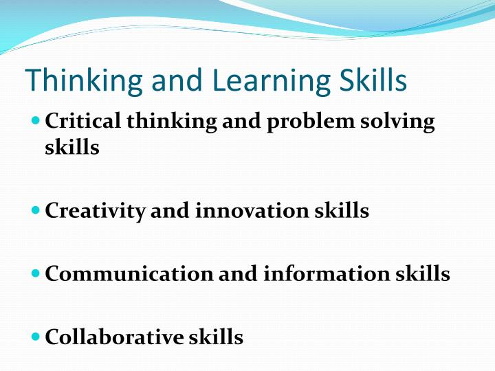 Thinking and Learning Skills