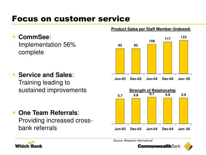 Focus on customer service