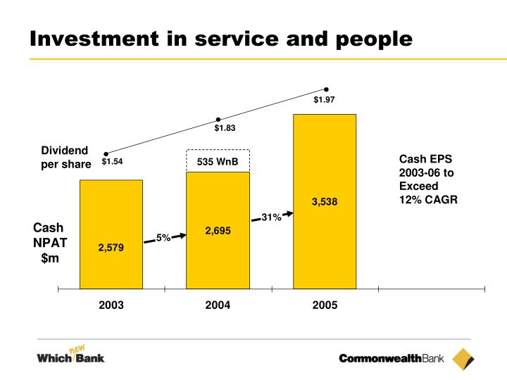 Investment in service and people