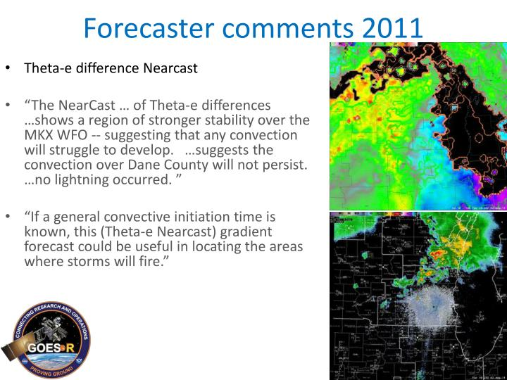 Forecaster comments 2011