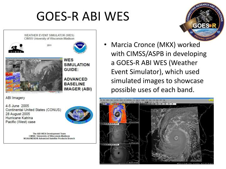 GOES-R ABI WES