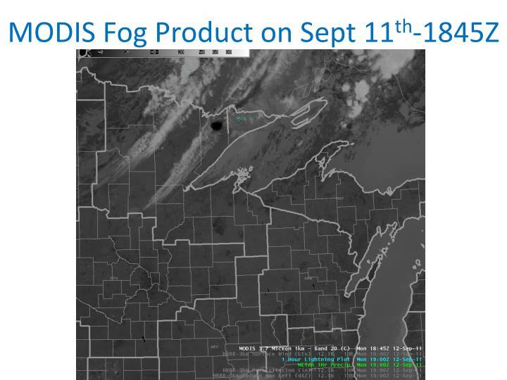 MODIS Fog Product on Sept 11
