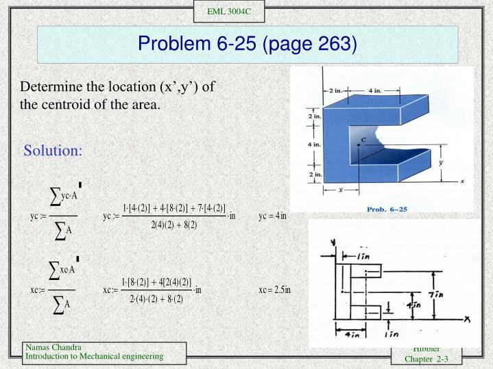 Problem 6-25 (page 263)