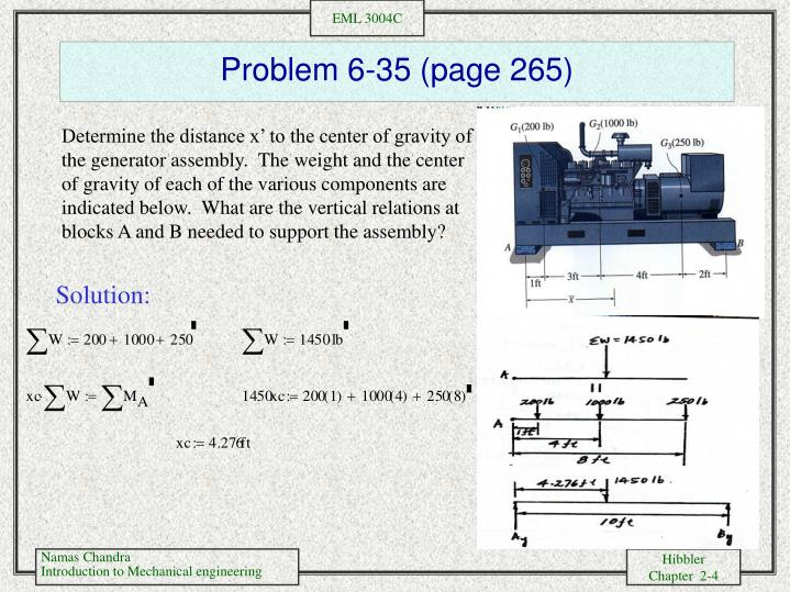 Problem 6-35 (page 265)