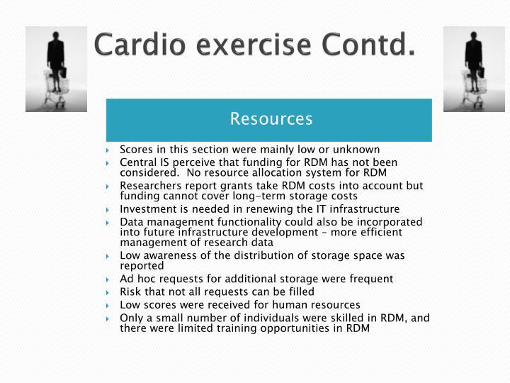 Cardio exercise Contd.