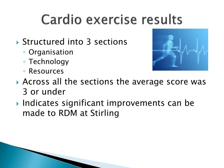 Cardio exercise results