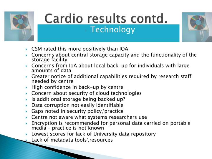 Cardio results