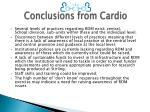 conclusions from cardio