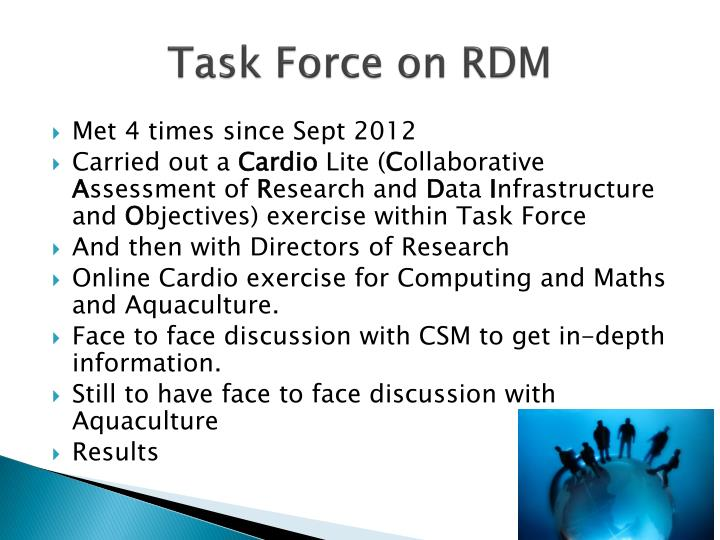 Task force on rdm