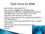 task force on rdm