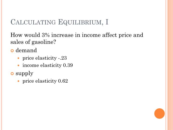 Calculating Equilibrium, I