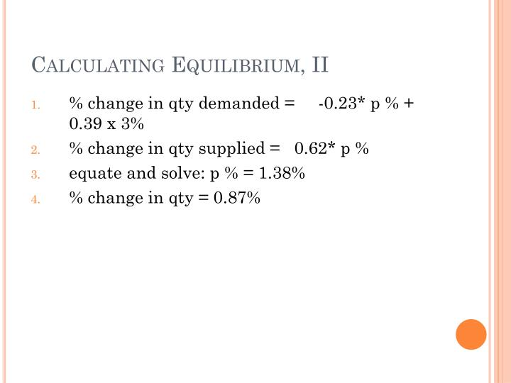 Calculating Equilibrium, II
