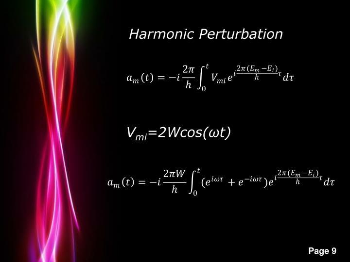 Harmonic Perturbation