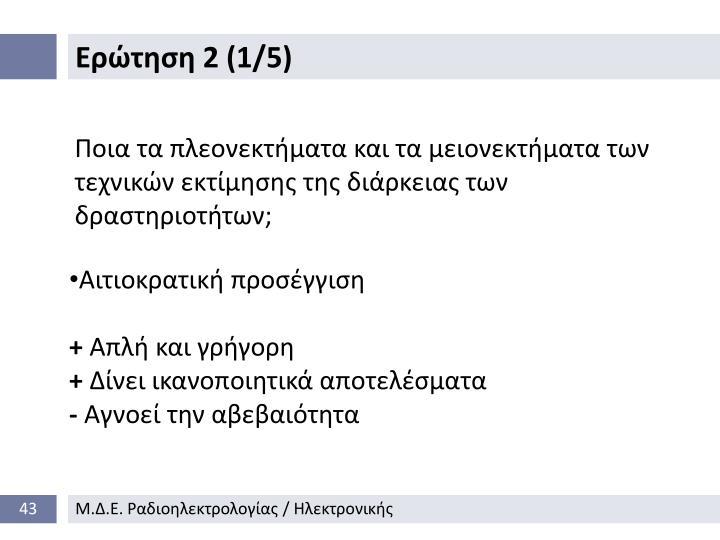 Ερώτηση 2 (1/5)
