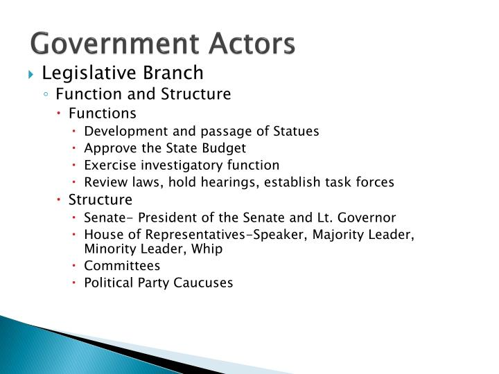 Government Actors