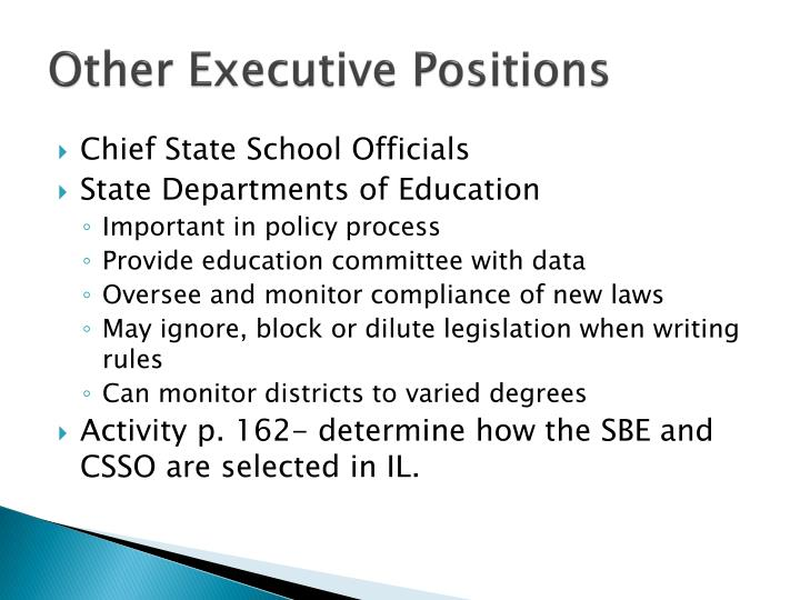 Other Executive Positions