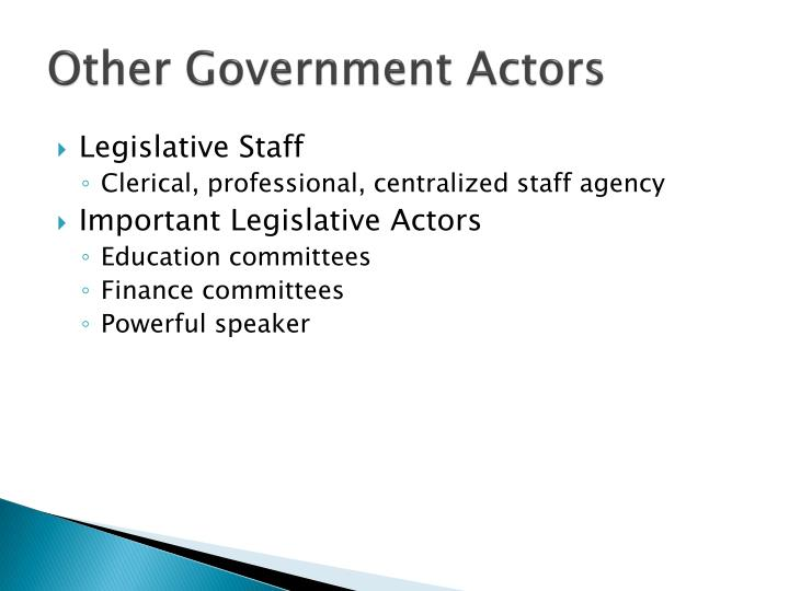 Other Government Actors