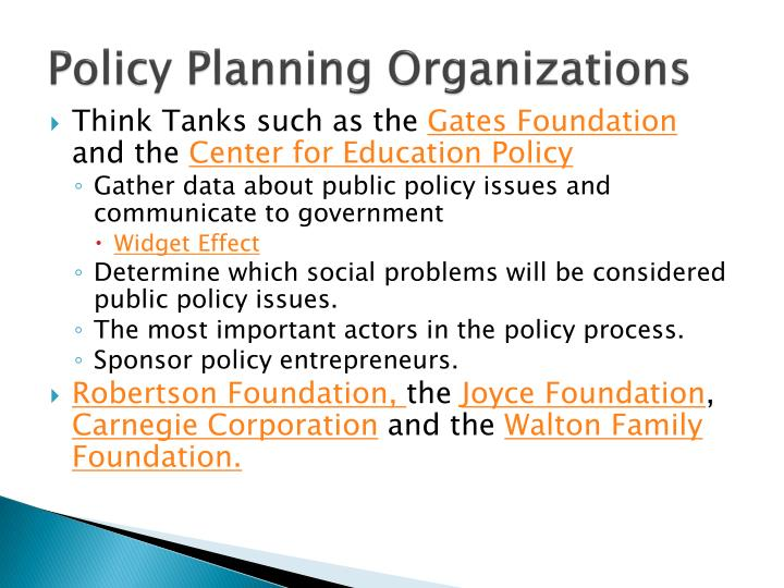 Policy Planning Organizations