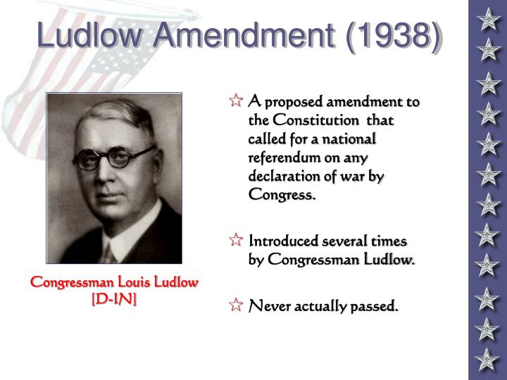 Ludlow Amendment (1938)