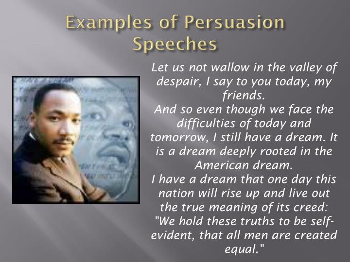 Examples of Persuasion