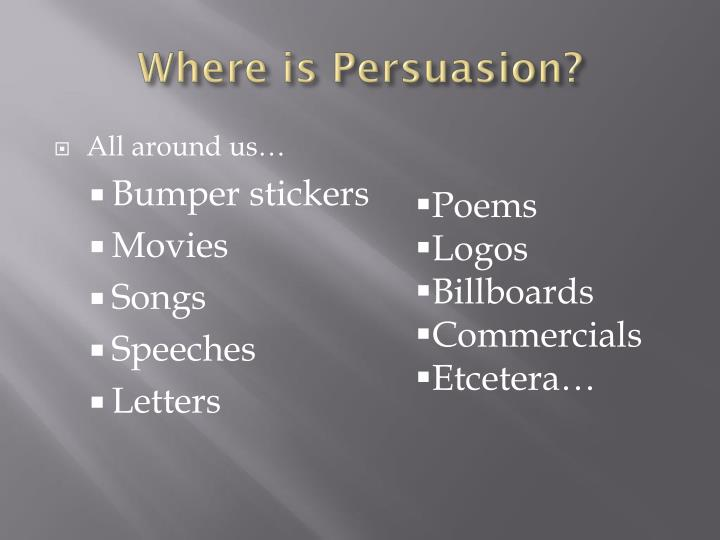 Where is persuasion