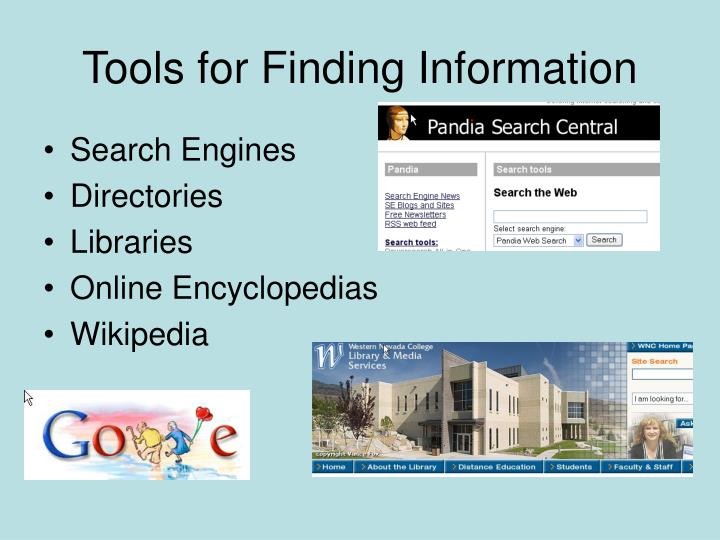 Tools for finding information