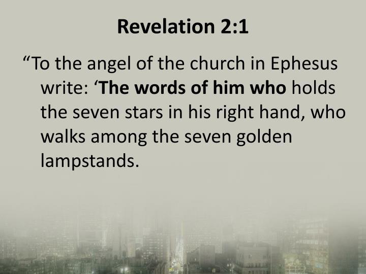 Revelation 2:1