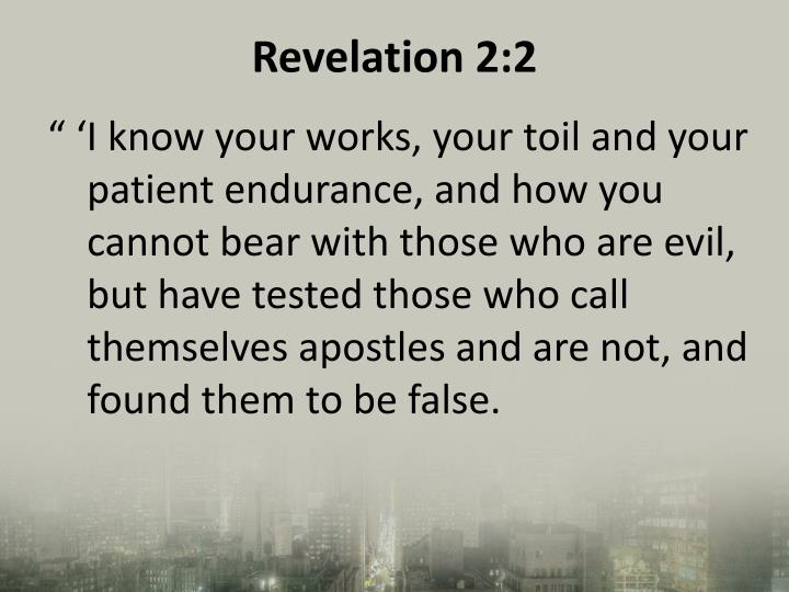 Revelation 2:2