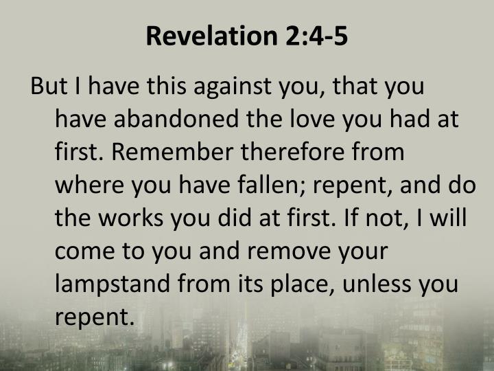 Revelation 2:4-5
