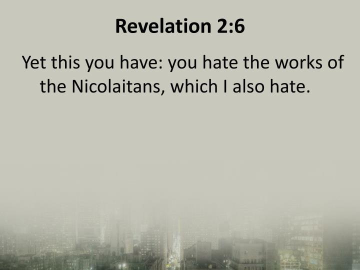 Revelation 2:6