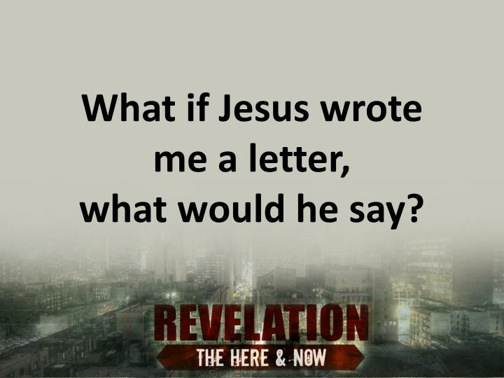 What if Jesus wrote