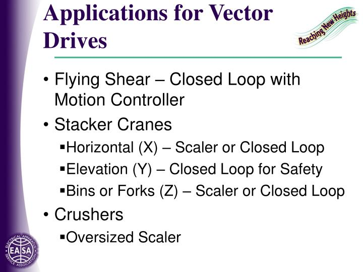 Applications for Vector Drives