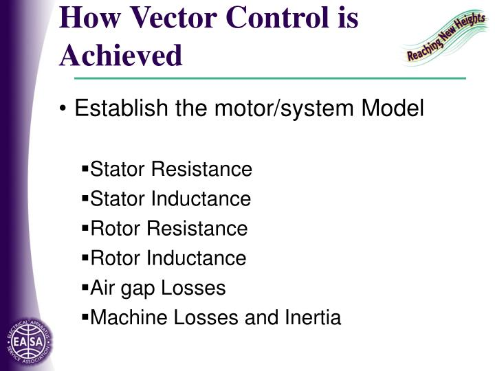 How Vector Control is Achieved