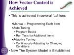 how vector control is achieved1