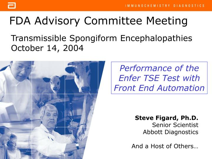 Fda advisory committee meeting
